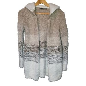 ABSOLUTELY FAMOUS soft cardigan sherpa lined hood